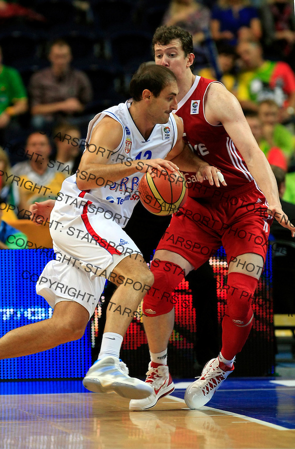 Nenad Krstic, during round 2, group E, basketball game between Serbia and Turkey in Vilnius, Lithuania, Eurobasket 2011, Sunday, September 11, 2011. (photo: Pedja Milosavljevic)