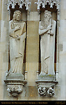 Gothic Statuary, Counts of Flanders, Town Hall Stadhuis 1376, Burg Square, Bruges, Brugge, Belgium