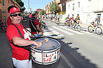 The riders cheered on by fans during Stage 17 of the La Vuelta 2018, running 186.1km from Ejea de los Caballeros to Lleida, Spain. 13th September 2018.                   <br /> Picture: Unipublic/Photogomezsport | Cyclefile<br /> <br /> <br /> All photos usage must carry mandatory copyright credit (&copy; Cyclefile | Unipublic/Photogomezsport)