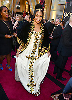 Tiffany Haddish arrives at the Oscars on Sunday, March 4, 2018, at the Dolby Theatre in Los Angeles. (Photo by Charles Sykes/Invision/AP)