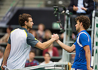12-02-13, Tennis, Rotterdam, ABNAMROWTT, Robin Haase, Ernests Gulbis
