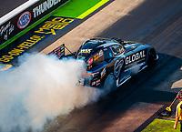 Jun 16, 2018; Bristol, TN, USA; NHRA funny car driver Shawn Langdon during qualifying for the Thunder Valley Nationals at Bristol Dragway. Mandatory Credit: Mark J. Rebilas-USA TODAY Sports