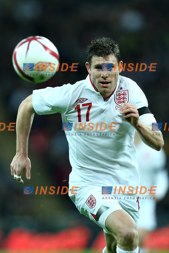 Londra 6-02-2013 Wembley Stadium.Calcio amichevole internazionale Inghilterra vs Brasile.Friendly Match England Vs Brazil .James Milner.Photo Matteo Ciambelli / Insidefoto