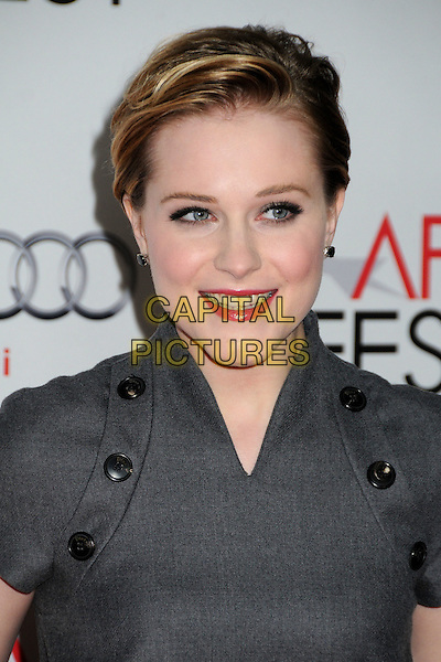 Evan Rachel Wood.AFI Fest 2011 - Los Angeles Time Young Hollywood Panel held at Grauman's Chinese Theatre, Hollywood, California, USA..November 4th, 2011.headshot portrait grey gray black buttons  .CAP/ADM/BP.©Byron Purvis/AdMedia/Capital Pictures.
