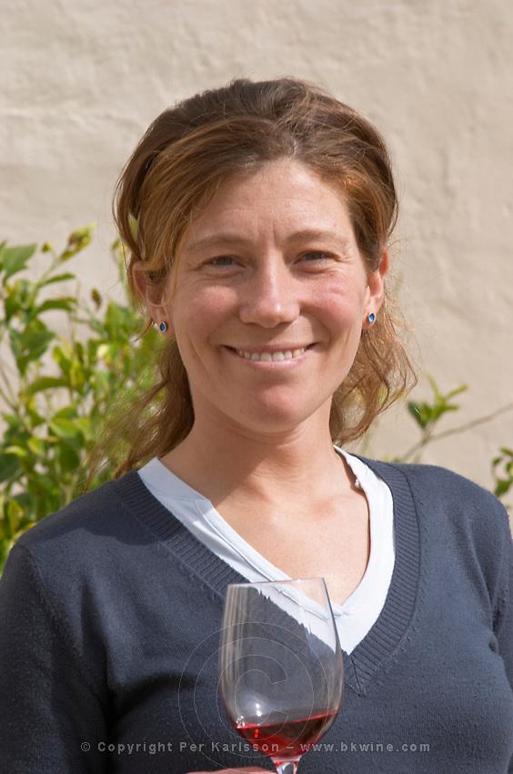 Anna Baques, oenologist & winemaker. Can Rafols dels Caus, Avinyonet, Penedes, Catalonia, Spain.