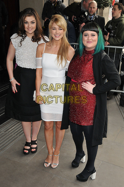 Sarah George, Amanda Clapham &amp; Jessica Ellis attend the TRIC ( Television and Radio Industries Club ) Awards 2016, Grosvenor House Hotel, Park Lane, London, UK, on Tuesday 08 March 2016.<br /> CAP/CAN<br /> &copy;Can Nguyen/Capital Pictures