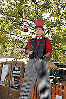 Juggler on stilts at the Coney Island Brewery grand opening celebration.