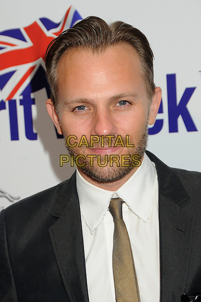 Craig Young.BritWeek 2012 Official Launch held at a Private Residence, Los Angeles, California, USA..April 24th, 2012.headshot portrait black white brown tie beard facial hair.CAP/ADM/BP.©Byron Purvis/AdMedia/Capital Pictures.