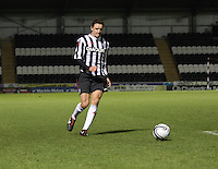 Ross Meechan in the St Mirren v Dundee Clydesdale Bank Scottish Premier League Under 20 match played at St Mirren Park, Paisley on 14.1.13.