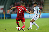 Pawel Jaroszynski of Poland and Jacob Murphy of England during England Under-21 vs Poland Under-21, UEFA European Under-21 Championship Football at The Kolporter Arena on 22nd June 2017