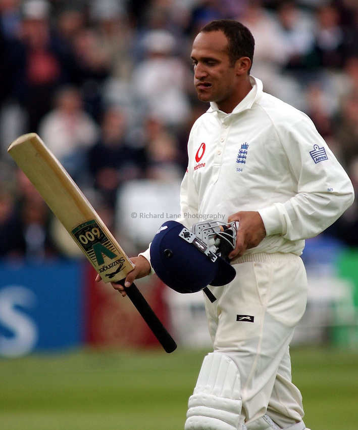 Photo. Javier Garcia.20/05/02 England v Sri Lanka, First N Power Test, Lords.Disappointment for Mark Butcher run out for 105