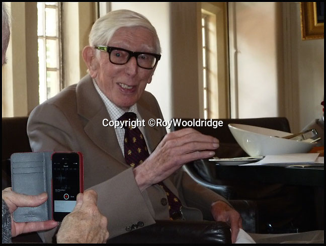 BNPS.co.uk (01202 558833)<br /> Pic: RoyWooldridge/BNPS<br /> <br /> ***Please Use FullByline***<br /> <br /> Captain Roy Woldridge on his 95th birthday in July 2014. <br /> <br /> The incredible story of how legendary German general Erwin Rommel spared the life of a captured British soldier and then served him a glass of beer has been revealed after 70 years.<br /> <br /> Captain Roy Wooldridge met Rommel after being taken prisoner in a dangerous night-time mission to examine submerged mines along the French beaches weeks before the D-Day landings.<br /> <br /> His story is to be told on BBC1's Antiques Roadshow this Sunday.