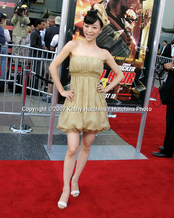 "Zhang Jing Chu.""Rush Hour 3"" Premiere.Grauman's Chinese.Los Angeles, CA.July 30, 2007.©2007 Kathy Hutchins / Hutchins Photo...."