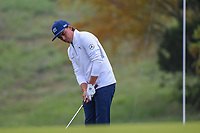 Rickie Fowler (USA) watches his birdie attempt on 10 during day 1 of the Valero Texas Open, at the TPC San Antonio Oaks Course, San Antonio, Texas, USA. 4/4/2019.<br /> Picture: Golffile | Ken Murray<br /> <br /> <br /> All photo usage must carry mandatory copyright credit (© Golffile | Ken Murray)