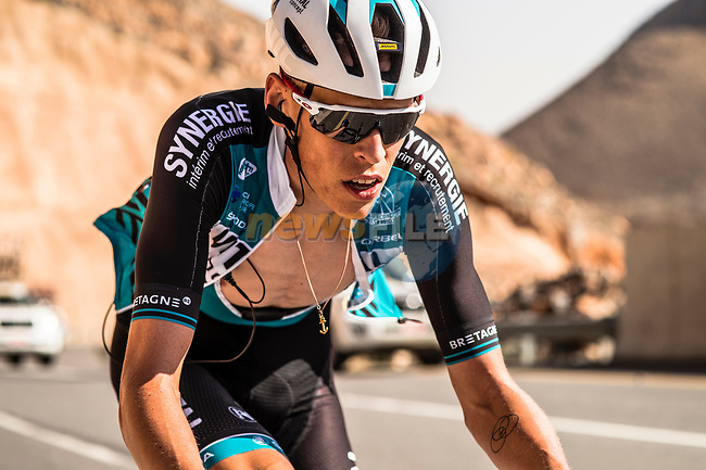Patrick Muller (SUI) Vital Concept-B&B Hotels climbs towards the finish of Stage 5 of the 10th Tour of Oman 2019, running 152km from Samayil to Jabal Al Akhdhar (Green Mountain), Oman. 20th February 2019.<br /> Picture: ASO/Kåre Dehlie Thorstad | Cyclefile<br /> All photos usage must carry mandatory copyright credit (© Cyclefile | ASO/Kåre Dehlie Thorstad)