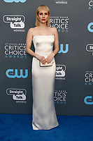 Emma Roberts attends the 23rd Annual Critics' Choice Awards at Barker Hangar in Santa Monica, Los Angeles, USA, on 11 January 2018. Photo: Hubert Boesl - NO WIRE SERVICE - Photo: Hubert Boesl/dpa /MediaPunch ***FOR USA ONLY***
