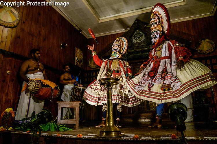A traditional Kathakali dance performance, Fort Cochin, Kerala, India