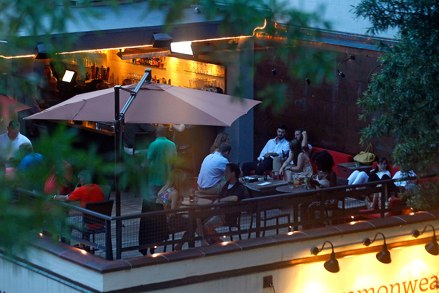 The Commonwealth Skybar restaurant and bar located on the Downtown Mall in Charlottesville, VA.  Photo/Andrew Shurtleff