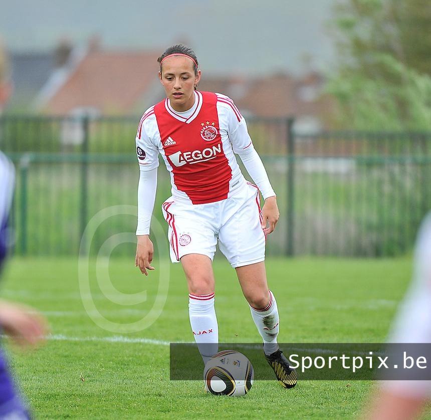 RSC Anderlecht Dames - Ajax Amsterdam : Pascalle Tang.foto DAVID CATRY / Nikonpro.be