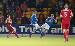 St Johnstone v Aberdeen.....07.12.13    SPFL<br /> Niall McGinn fires in the second goal<br /> Picture by Graeme Hart.<br /> Copyright Perthshire Picture Agency<br /> Tel: 01738 623350  Mobile: 07990 594431