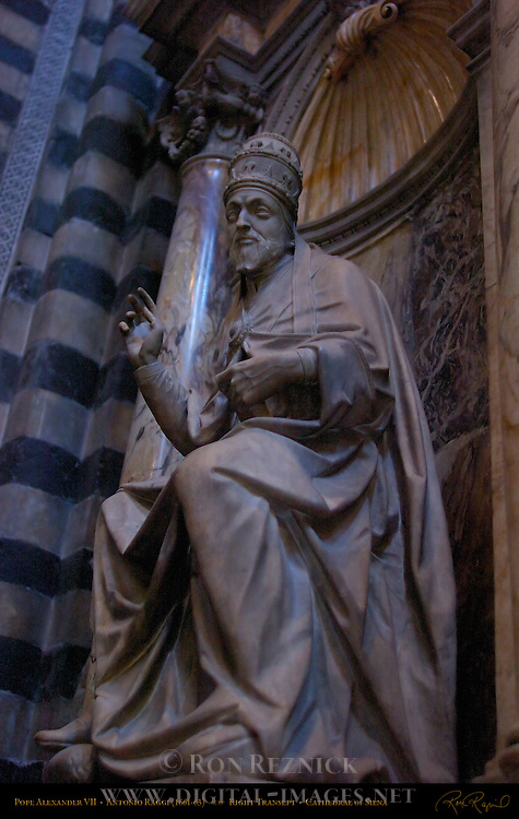 Monument to Alexander VII, Antonio Raggi 1663, Right Transept, Cathedral of Siena, Santa Maria Assunta, Siena, Italy