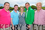 Peter O'Rielly, Stephen Carroll, Roisin Relihan, Sean McMahon and Ned Beckett, at Abbeyfeale races on Sunday.