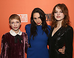 "Tavi Gevinson, Lauren Patten and Odessa Young attends the After Party for the Second Stage Production of ""Days Of Rage"" at Churrascaria Platforma on October 30, 2018 in New York City."