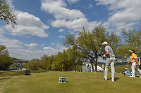 Keegan Bradley (USA) watches his tee shot on 12 during day 2 of the World Golf Championships, Dell Match Play, Austin Country Club, Austin, Texas. 3/22/2018.<br /> Picture: Golffile | Ken Murray<br /> <br /> <br /> All photo usage must carry mandatory copyright credit (&copy; Golffile | Ken Murray)