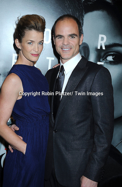 "Michael Kelly and wife attending The World Premiere of "" The Adjustment Bureau"" on February 14, 2011.at The Ziegfeld Theatre in New York City..Matt Damon and Emily Blunt are the stars of the movie"