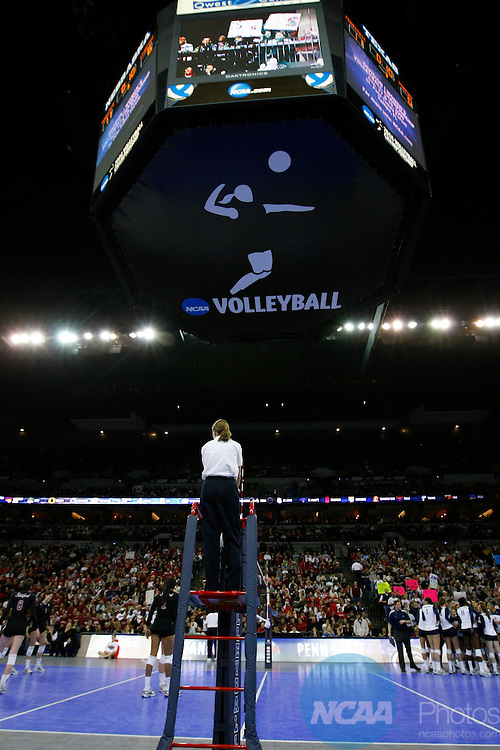 20 DEC 2008:  Penn State University takes on Stanford University during the Division I Women's Volleyball Championship held at the Quest Center in Omaha, NE. Penn State defeated Standford in straight sets to claim back to back national championships.  Corbey R. Dorsey/NCAA Photos