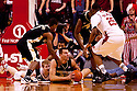 30 November 2011: Carson Desrosiers #33 of the Wake Forest Demon Deacons gets the lose ball against the Nebraska Cornhuskers at the Devaney Sports Center in Lincoln, Nebraska. Wake Forest defeated Nebraska 55 to 53.