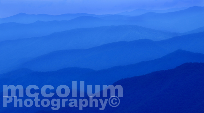 Michael McCollum<br /> 8/1/17<br /> Blue Ridge Mountains looking South from Clingmans Dome (6,643 feet) in the Great Smoky Mountains National Park in North Carolina