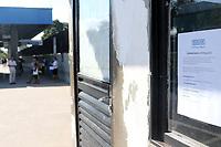 CAMPINAS, SP 21.06.2019 - ASSALTO - Dois homens armados roubaram a bilheteria do Terminal Rodoviário Vida Nova em Campinas, na manhã desta sexta-feira (21). O roubo ocorreu por volta das 6h45. Os assaltantes renderam os vigilantes e fugiram com malotes. Ninguém ficou ferido. <br /> <br /> Por causa do assalto, o posto de vendas da Transurc (associação que representa as empresas do transporte coletivo) no terminal vai ficar fechado por 30 dias. Segundo a Transurc, uma obra será realizada no local para proporcionar mais segurança aos funcionários. (Foto: Denny Cesare/Código19)