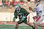 Redondo Beach, CA 05/11/10 - Alex Kasai (PV # 16) and Noah Dates (MC # 24) in action during the 2010 Los Angeles Boys Lacrosse championship game, Mira Costa defeated Palos Verdes 12-10 at Redondo Union High School.
