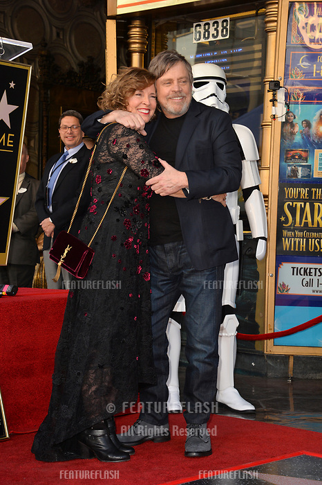 Mark Hamill &amp; Marilou York at the Hollywood Walk of Fame Star Ceremony honoring actor Mark Hamill, Los Angeles, USA 08 March 2018<br /> Picture: Paul Smith/Featureflash/SilverHub 0208 004 5359 sales@silverhubmedia.com