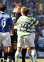 20/08/2005         Copyright Pic : James Stewart.File Name : jspa09 rangers v celtic.THE ASSISTANT REFEREE STEPS IN AS NEIL LENNON HAS A GO AT THE REFEREE AT THE END OF THE GAME.......Payments to :.James Stewart Photo Agency 19 Carronlea Drive, Falkirk. FK2 8DN      Vat Reg No. 607 6932 25.Office     : +44 (0)1324 570906     .Mobile   : +44 (0)7721 416997.Fax         : +44 (0)1324 570906.E-mail  :  jim@jspa.co.uk.If you require further information then contact Jim Stewart on any of the numbers above.........