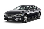 2016 Mazda 6 i Grand Touring Auto 4 Door Sedan angular front stock photos of front three quarter view