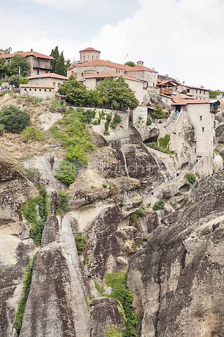 Monastery of the Transfiguration of Christ, Holy Monastery of Great Meteoron, Meteora, Thessaly, Greece <br /> CAP/MEL<br /> &copy;MEL/Capital Pictures /MediaPunch ***NORTH AND SOUTH AMERICA ONLY***