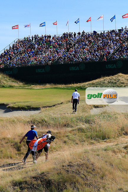 Joost LUITEN (NED) walks up to the 9th green during Saturday's Round 3 of the 2015 U.S. Open 115th National Championship held at Chambers Bay, Seattle, Washington, USA. 6/21/2015.<br /> Picture: Golffile | Eoin Clarke<br /> <br /> <br /> <br /> <br /> All photo usage must carry mandatory copyright credit (&copy; Golffile | Eoin Clarke)