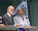 """PRINCE AND PRINCESS MICHAEL OF KENT.watch the Epsom Derby.The Queen was joined at the Derby the signalled the start of her Diamond Jubilee Celebrations by,The Duke of Edinburgh, Prince Andrew, Princess Beatrice, Princess Eugenie, Prince Edward, Sophie,Countess of Wessex, Prince Michael and Princess Michael of Kent_02/06/2012.Mandatory credit photo: ©Dias/NEWSPIX INTERNATIONAL..(Failure to credit will incur a surcharge of 100% of reproduction fees)..                **ALL FEES PAYABLE TO: """"NEWSPIX INTERNATIONAL""""**..IMMEDIATE CONFIRMATION OF USAGE REQUIRED:.DiasImages, 31a Chinnery Hill, Bishop's Stortford, ENGLAND CM23 3PS.Tel:+441279 324672  ; Fax: +441279656877.Mobile:  07775681153.e-mail: info@newspixinternational.co.uk"""