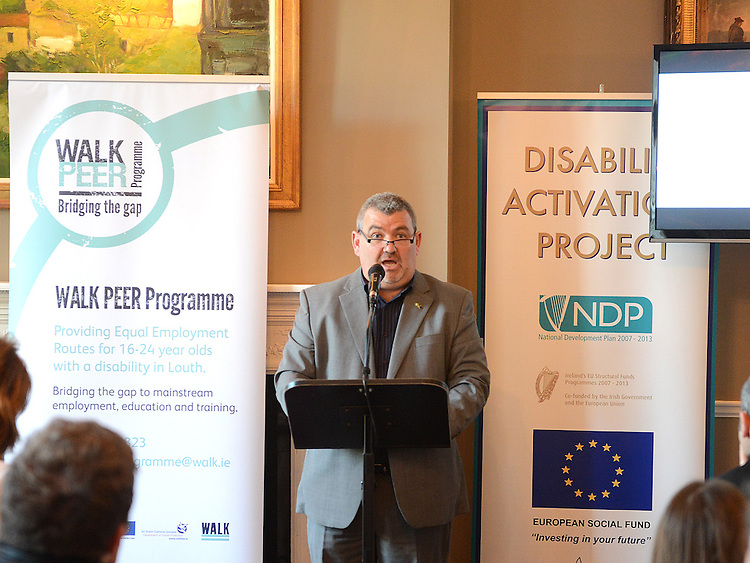 CEO of WALK Joe Mason speaking at the launch of the Walk Peer Programme in Bellingham Castle hotel. Photo:Colin Bell/pressphotos.ie