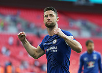 19th May 2018, Wembley Stadium, London, England; FA Cup Final football, Chelsea versus Manchester United; Gary Cahill of Chelsea celebrates after the final whistle