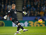 Kasper Schmeichel of Leicester City takes a goal kick - English Premier League - Leicester City vs Chelsea - King Power Stadium - Leicester - England - 14th December 2015 - Picture Simon Bellis/Sportimage