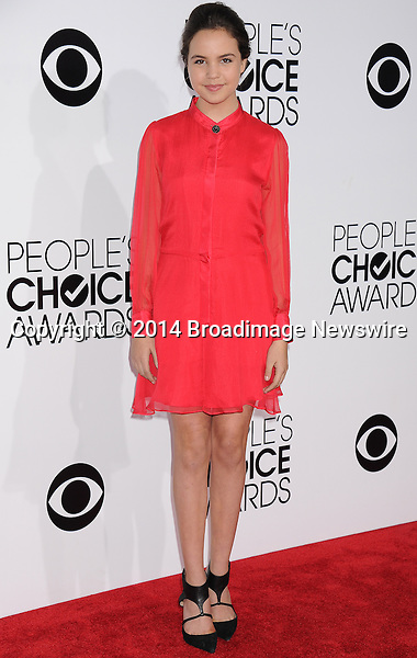 Pictured: Bailee Madison<br /> Mandatory Credit &copy; Gilbert Flores /Broadimage<br /> 2014 People's Choice Awards <br /> <br /> 1/8/14, Los Angeles, California, United States of America<br /> Reference: 010814_GFLA_BDG_119<br /> <br /> Broadimage Newswire<br /> Los Angeles 1+  (310) 301-1027<br /> New York      1+  (646) 827-9134<br /> sales@broadimage.com<br /> http://www.broadimage.com
