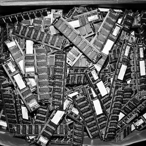 """WARSAW, POLA ND, MARCH 2012:.Electronic waste in """"Serwisownia"""", a recycling company..(Photo by Piotr Malecki / Napo Images)...Warszawa, Styczen 2012:.Posortowane odpady elektroniczne w firmie """"Serwisownia""""..Fot: Piotr Malecki / Napo Images"""