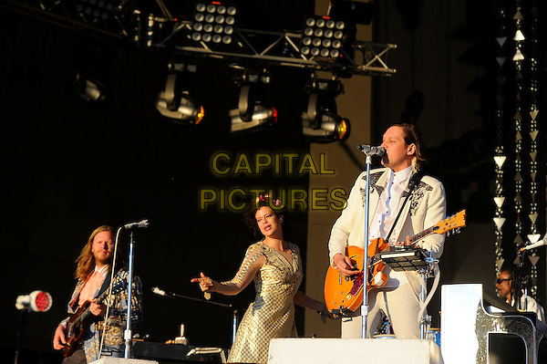 LONDON, ENGLAND - JULY 3: Regine Chassagne and Win Butler of Arcade Fire perform live at British Summertime, Hyde Park on July 3, 2014 in London, England.<br /> CAP/MAR<br /> &copy; Martin Harris/Capital Pictures