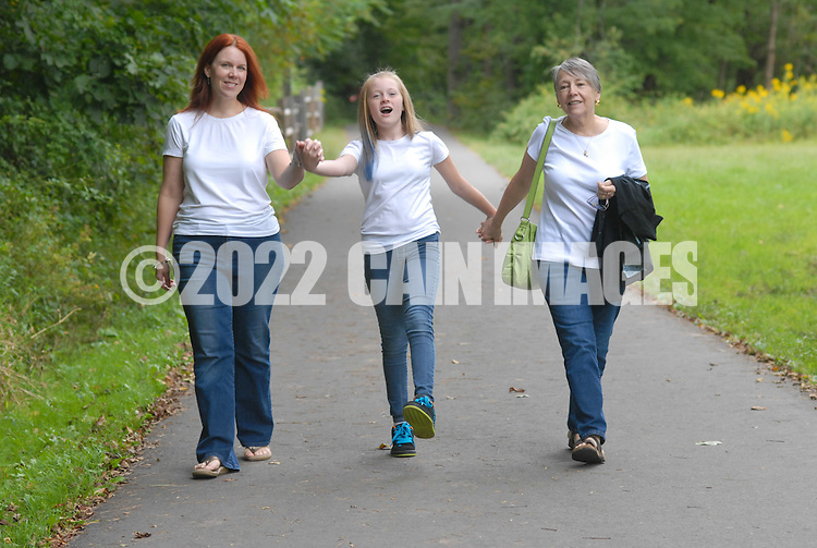 NEWTOWN, PA -  SEPTEMBER 15:  The Sherman family is photographed at Tyler State Park September 15, 2013 in Newtown, Pennsylvania. (Photo by William Thomas Cain/Cain Images)