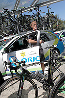 "Orica Greenedge's director Neil Stephens ""Sheriff Stephens"" before the stage of La Vuelta 2012 between Santiago de Compostela and Ferrol.August 31,2012. (ALTERPHOTOS/Acero)"