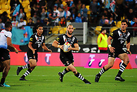 New Zealand's Simon Mannering in action during the 2017 Rugby League World Cup quarterfinal match between New Zealand Kiwis and Fiji at Wellington Regional Stadium in Wellington, New Zealand on Saturday, 18 November 2017. Photo: Dave Lintott / lintottphoto.co.nz