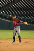 AZL Diamondbacks second baseman Eddie Hernandez (2) on defense against the AZL Cubs on August 11, 2017 at Sloan Park in Mesa, Arizona. AZL Cubs defeated the AZL Diamondbacks 7-3. (Zachary Lucy/Four Seam Images)